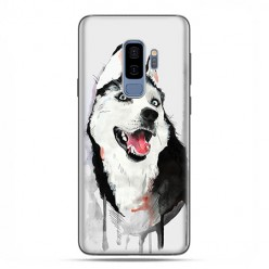 Samsung Galaxy S9 Plus - etui na telefon z grafiką - Pies Husky watercolor.