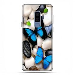 Samsung Galaxy S9 Plus - etui na telefon z grafiką - Niebieskie motyle.
