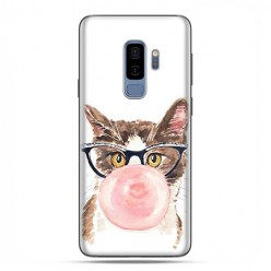 Samsung Galaxy S9 Plus - etui na telefon z grafiką - Kot z gumą balonową.
