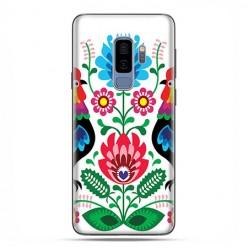 Samsung Galaxy S9 Plus - etui na telefon z grafiką - Łowickie wzory kwiaty.