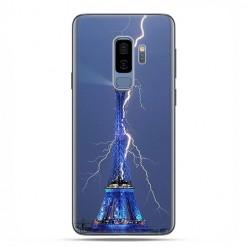 Samsung Galaxy S9 Plus - etui na telefon z grafiką - Wieża Eiffla z błyskawicą.