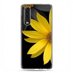 Huawei P30 - silikonowe etui na telefon - Żółty słonecznik