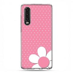 Huawei P30 - silikonowe etui na telefon - Różowa stokrotka