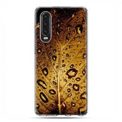 Huawei P30 - silikonowe etui na telefon - Złoty liść