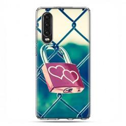 Huawei P30 - silikonowe etui na telefon - Kłódka symbol wiecznej miłości