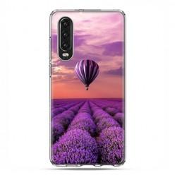 Huawei P30 - silikonowe etui na telefon - Lot nad polem lawendy