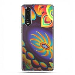 Huawei P30 - silikonowe etui na telefon - Mandala złoty pająk