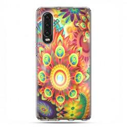 Huawei P30 - silikonowe etui na telefon - Ognista rozeta