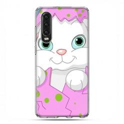 Huawei P30 - silikonowe etui na telefon - Różowy królik