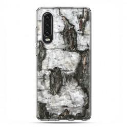 Huawei P30 - silikonowe etui na telefon - Drzewo pień brzozy