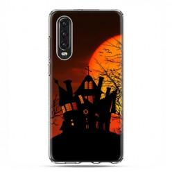 Huawei P30 - silikonowe etui na telefon - Straszny dwór Halloween