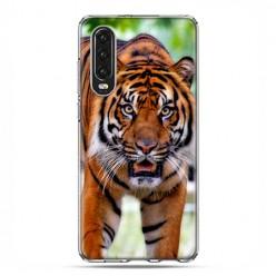 Huawei P30 - silikonowe etui na telefon - Dumny tygrys
