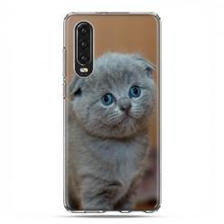 Huawei P30 - silikonowe etui na telefon - Smutna mała kicia