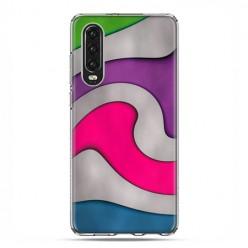 Huawei P30 - silikonowe etui na telefon - Kolorowa roztopiona plastelina
