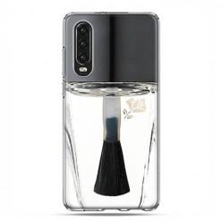 Huawei P30 - silikonowe etui na telefon - Bezbarwny lakier do paznokci