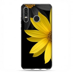 Huawei P30 Lite - silikonowe etui na telefon - Żółty słonecznik