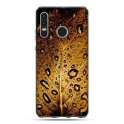 Huawei P30 Lite - silikonowe etui na telefon - Złoty liść
