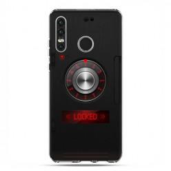 Huawei P30 Lite - silikonowe etui na telefon - Elektroniczny sejf