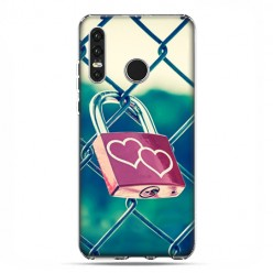 Huawei P30 Lite - silikonowe etui na telefon - Kłódka symbol wiecznej miłości