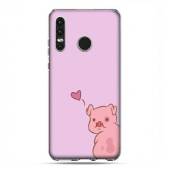 Huawei P30 Lite - etui na telefon - Zakochana świnka