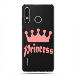 Huawei P30 Lite - etui na telefon - Princess z różową koroną