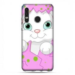 Huawei P30 Lite - etui na telefon - Różowy królik