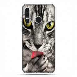 Huawei P30 Lite - etui na telefon - Kot liżący łapę