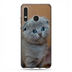 Huawei P30 Lite - etui na telefon - Smutna mała kicia