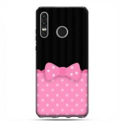 Huawei P30 Lite - etui na telefon - Polka dot różowa kokardka