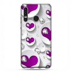 Huawei P30 Lite - etui na telefon - Serce i diament