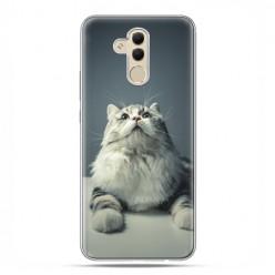 Huawei Mate 20 Lite - etui na telefon - Ciekawski szary kot