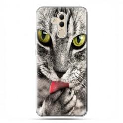 Huawei Mate 20 Lite - etui na telefon - Kot liżący łapę