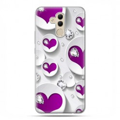 Huawei Mate 20 Lite - etui na telefon - Serce i diament