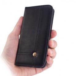 Etui z klapką portfel na karty do Huawei P9 Lite - czarny