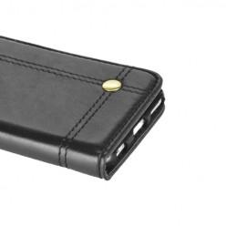 Etui z klapką portfel na karty do Samsung Galaxy S7 Edge - czarny