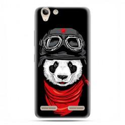 Lenovo K5 / K5 Plus - etui na telefon z grafiką - Panda w czapce.