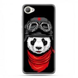 HTC Desire 12 - etui na telefon z grafiką - Panda w czapce.