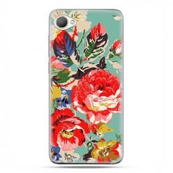 HTC Desire 12 - etui na telefon z grafiką - Kolorowe róże.