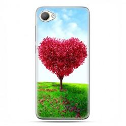 HTC Desire 12 - etui na telefon z grafiką - Serce z drzewa.