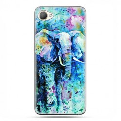 HTC Desire 12 - etui na telefon z grafiką - Kolorowy słoń.
