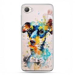 HTC Desire 12 - etui na telefon z grafiką - Szczeniak watercolor.