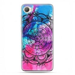 HTC Desire 12 - etui na telefon z grafiką - Rozeta watercolor.