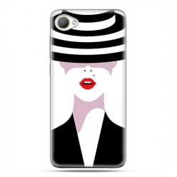 HTC Desire 12 - etui na telefon z grafiką - Kobieta w kapeluszu.