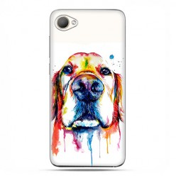 HTC Desire 12 - etui na telefon z grafiką - Pies labrador watercolor.