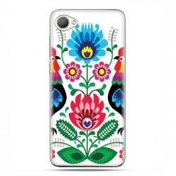 HTC Desire 12 - etui na telefon z grafiką - Łowickie wzory kwiaty.