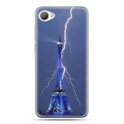 HTC Desire 12 - etui na telefon z grafiką - Wieża Eiffla z błyskawicą.