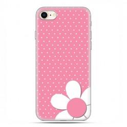 Apple iPhone 8 - etui case na telefon - Różowa stokrotka