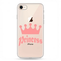 Apple iPhone 8 - etui case na telefon - Princess z różową koroną