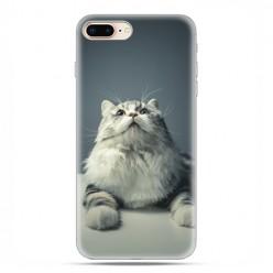 Apple iPhone 8 - etui case na telefon - Ciekawski szary kot