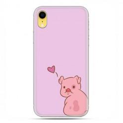 Apple iPhone XR - etui na telefon - Zakochana świnka